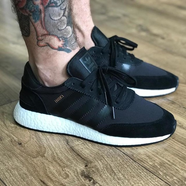 LPU is the @adidasoriginals iniki in black. Missed these when they released and have been chasing a pair for a while. Now have to decide if I'm going to black the soles out #adidas #adidasshoes #adidasboost #adidasiniki #woyft #instasneakers #sneakers