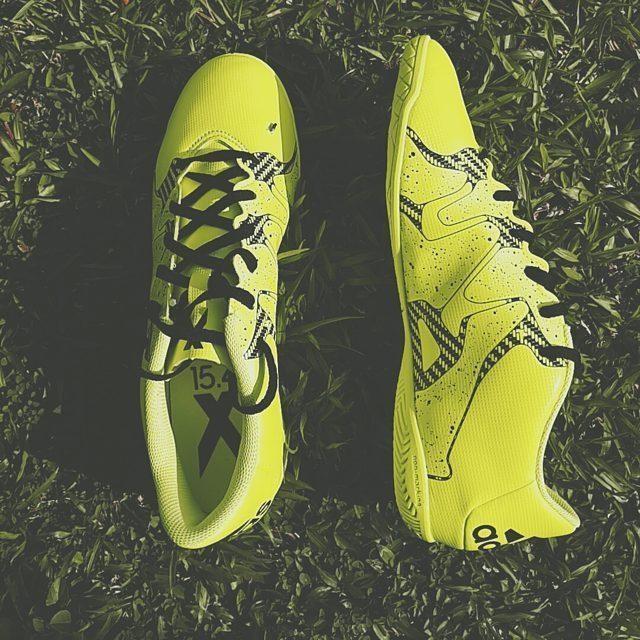 以后踢球就穿你吧 #adidas #x15 #bethedifference #mylife #2015