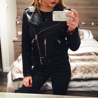 Georgia May Heads - Balfern Leather Biker Jacket