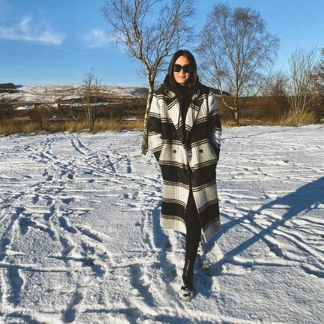 zoebeith - Lottie Wool Blend Check Coat