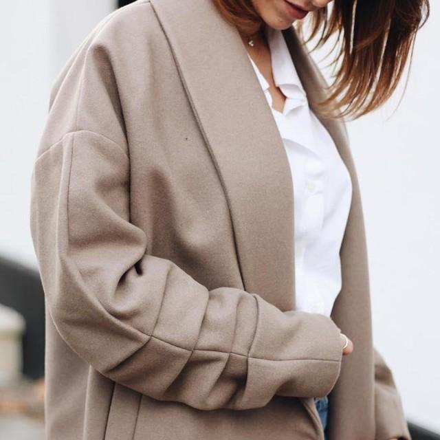 Mio | petite fashionista ???? - Kenzie Ruche Coat