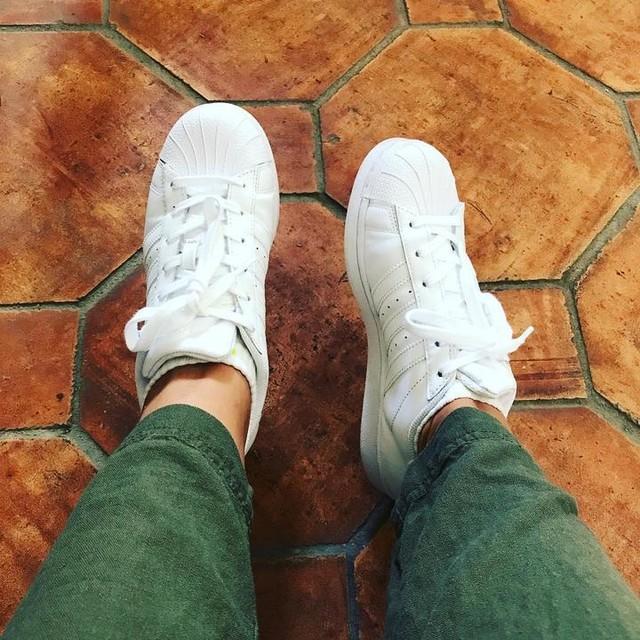 Shoe of the day! #adidas #adidassuperstar #celebrityhairstylist #hairdresser #loveonnetflixhair