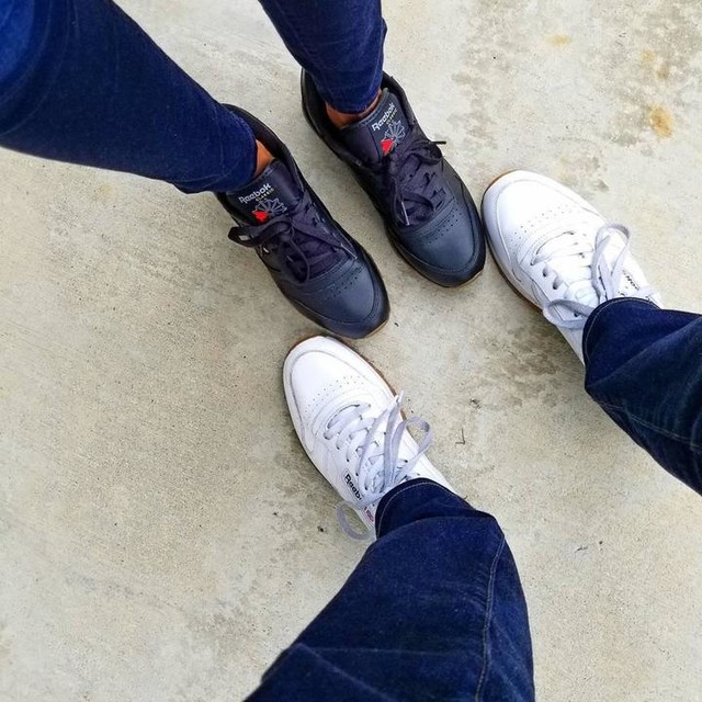 How #mrmoeller and I do HIS & HERS  #reebokclassic #reebok #kicks #sneakers #sneakerhead #sneaker #classic #shoes #justforfun #jeans #denim #casualstyle #casual #chillin #chill #sundayfunday