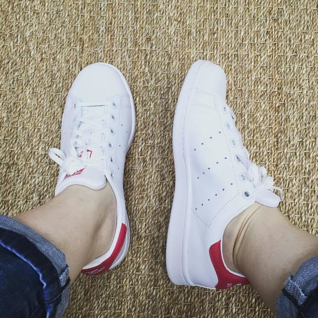 😱 j'ai craqué !!!!! #stansmith 😍 rose girly