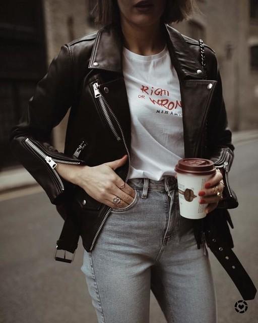 London Blogger • Justine - Billie Leather Biker Jacket