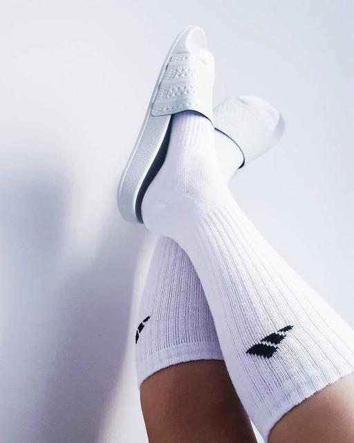 Socks. . . . . . . #adidasoriginals #adidas #socks #sportswear #3stripesstyle #adilette #pastel #fashion
