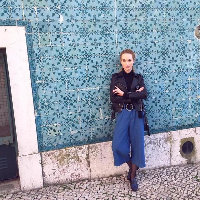 Aneta Amelia Klejnowska - Balfern Leather Biker Jacket