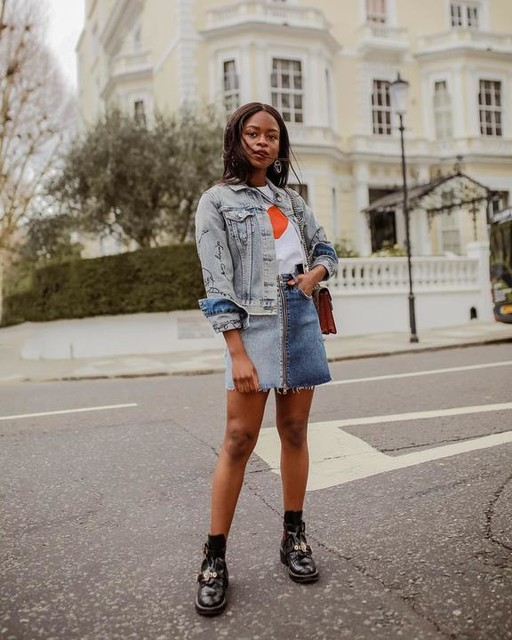 eniswardrobe - Lomo Denim Skirt