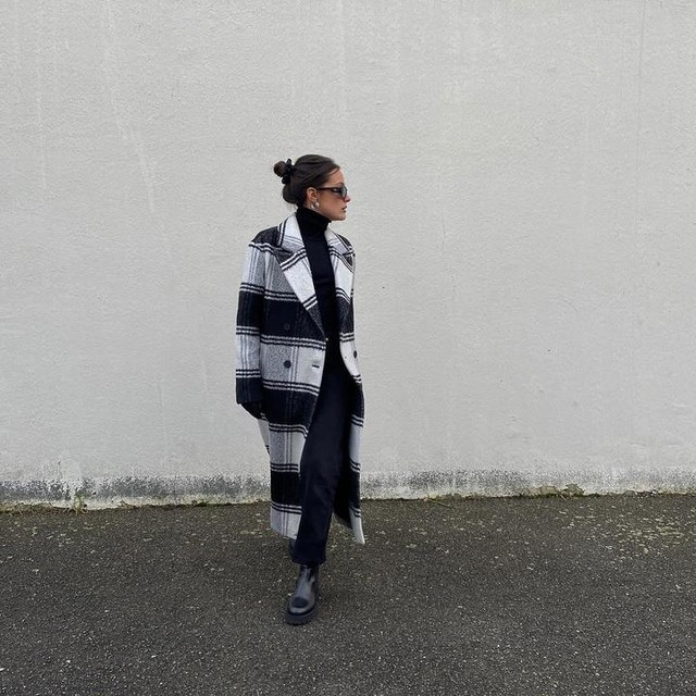 victoriavncnt_ - Lottie Wool Blend Check Coat