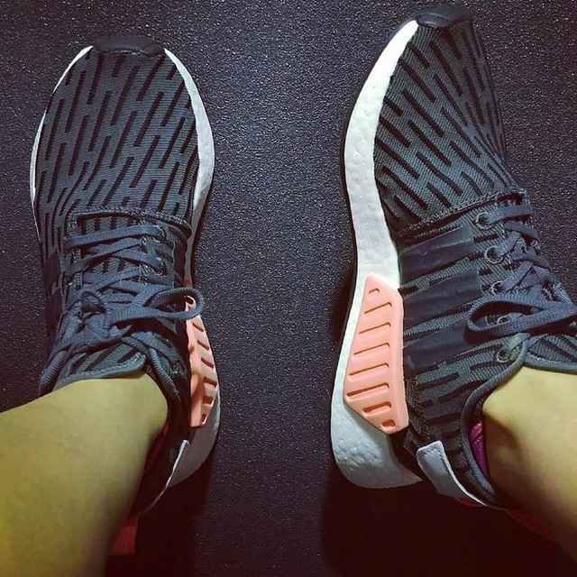 Lots of R2s releasing today so Mrs. Boost showed her stripes at  the gym. #nmd #boost #adidas #nmdr2