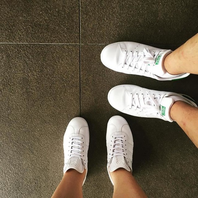 @adidasoriginals with Dada (coz he's japorms 😜). Stan Smith for him, Gazelle for me.  #latepost #adidasoriginals #stansmith #gazelle