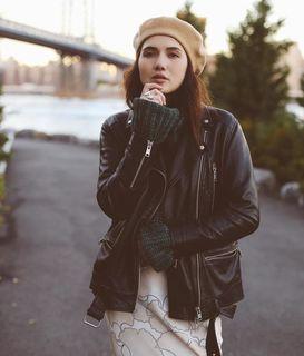 Dylana Lim Suarez - Papin Leather Biker Jacket