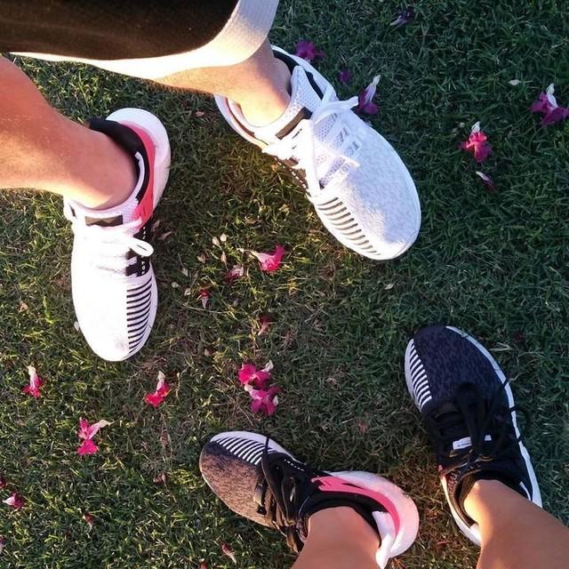 #lighttodark #hisandhers #adidas #boosted #eqt #pinky #datenight #birthdaygirl #husbandandwife #cuteshoes