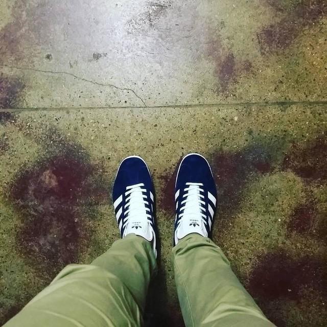 Fresh new kicks #gazelle #navysuade #addidas #fresh #kicks