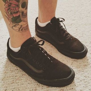 Vans All Black On Feet