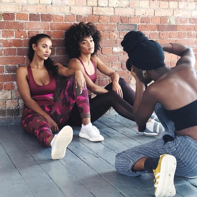 Statement Collection /// Behind the scenes on set with adidaslondon & mayajama ❤️ Full video is now on my YouTube channel, it includes a very funny Q&A with Maya 😭 (link in bio) 🎥🎥🎥 & you can join the full workout on adidaswomen ⚡️ #heretocreate #adidaswomen #fitness #workout #threestripelife #adidasambassador #adrienneldn