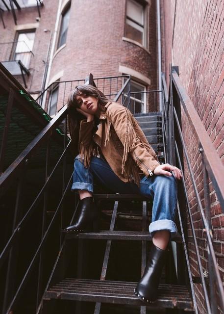 Samantha Romero  - Suede Tassel Balfern Biker Jacket