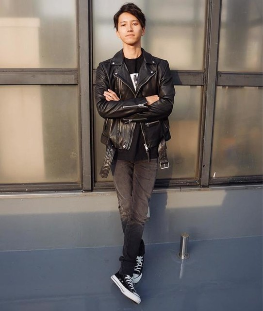 mame0712mame - Wick Leather Biker Jacket