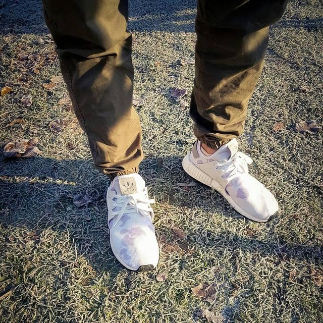 Mit Tarnung durch den Winter. Adidas NMD XR1 Camo White #adidas #adidasnmd #nmd #sneaker #camo #camouflage #whitesneakers