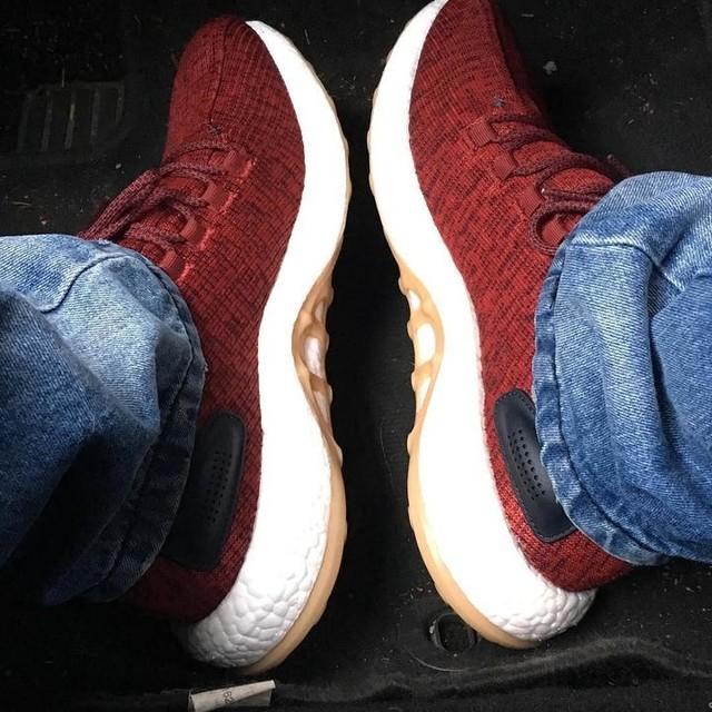 #newshoes #adidas #adidasboost #pureboost #adidaspureboost #red #white
