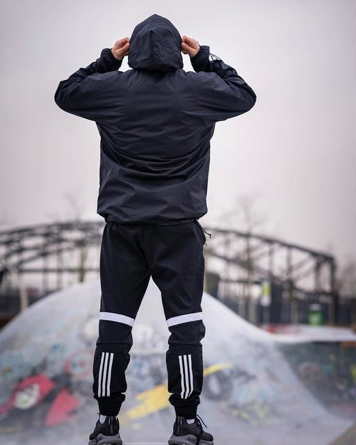 "There is no such thing as bad weather. Only inappropriate clothing! • • • Made for the athlete, styled for the street."" #adidasathletics #adidasWND #createdwithadidas adidas • (*werbung/markenverlinkung) • • • #trainingssquad #coach #fitoshoot #malemodel #skatepark #frankfurtammain"