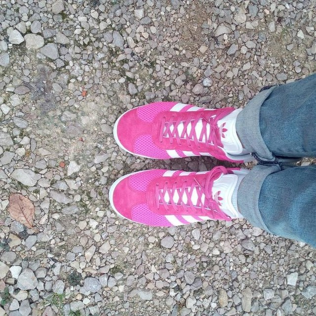 Je kiffe mes nouvelles shoes #gazelle#adidas#girly#pink#commedansdeschaussons