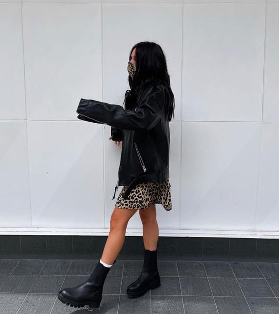 r.umsha - Balfern Leather Biker Jacket