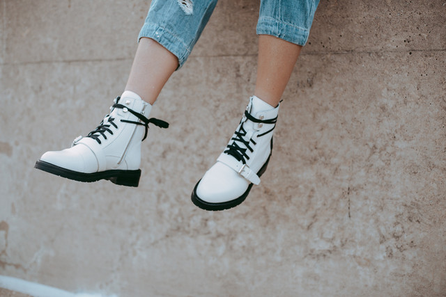 whocares.whatshewears - Donita Lace Up Boot