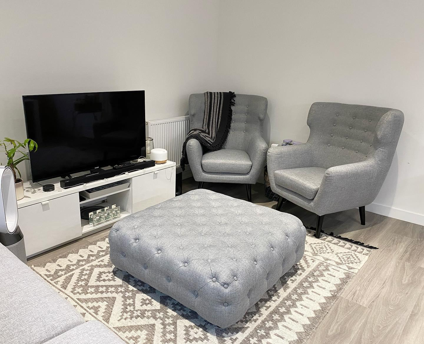 Canapé Moelleux Assise Profonde branagh, canapé chesterfield 2 places, gris perle   made