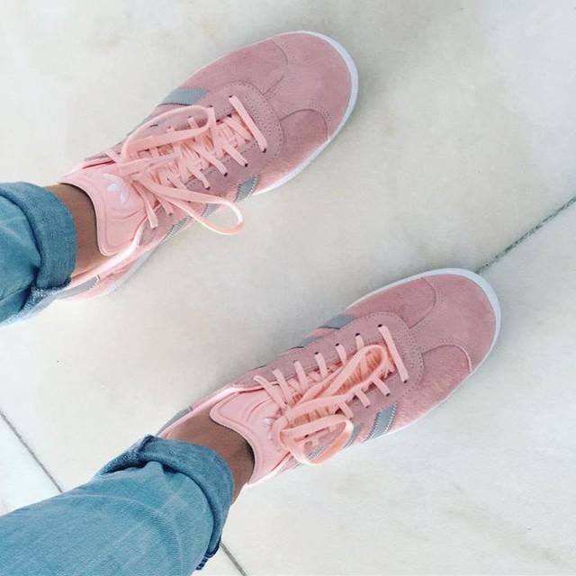 ❤️ #shoes #newshoes #adidas #adidasgazelle #gazelle #love #pink #grey #summ #summershoes