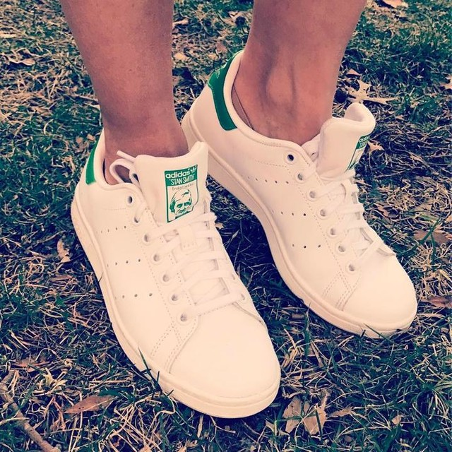 """Today, 65 degrees in NYC calls for a dress & Stan Smith Adidas....tomorrow....I don't want to think about tomorrow. (12"""" of snow & a shovel as accessories) #mothernatureisbipolar  #sneaker #kicks #fashion #fashionblogger #adidas #stansmith"""