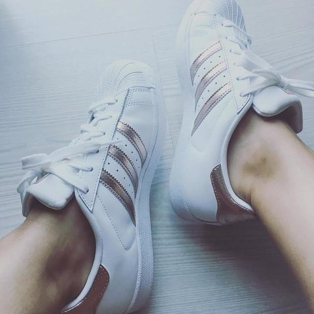 <3 #adidas #adidassuperstar #metallic #rosegold #loveshoes