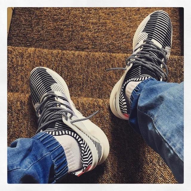 Garish. #adidas #eqt #adv #primeknit #eqtadv #zebra #3stripesstyle #3stripes #undeadstock #sneakers