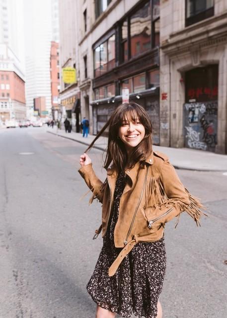 Samantha Romero  - Tassel Balfern Suede Biker Jacket