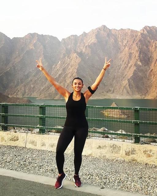 Amazing morning Run in  the mountains ❤️🏃🏔️ #hatta #runnergirl #adidasrunners #takechargedubai #ultraboost #allterrain