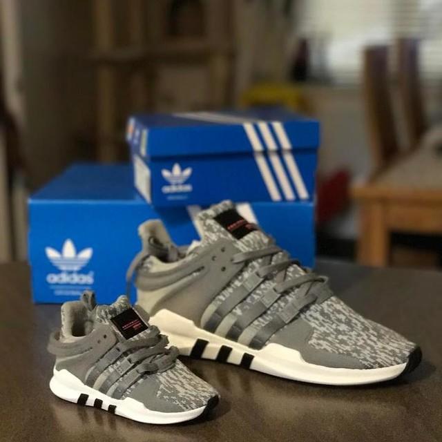 #adidas #eqt #fathersonlove #matching #firstkicks #coolkid #grey #trainerlfe #trainerlove #shoegame #sport #addidasbaby