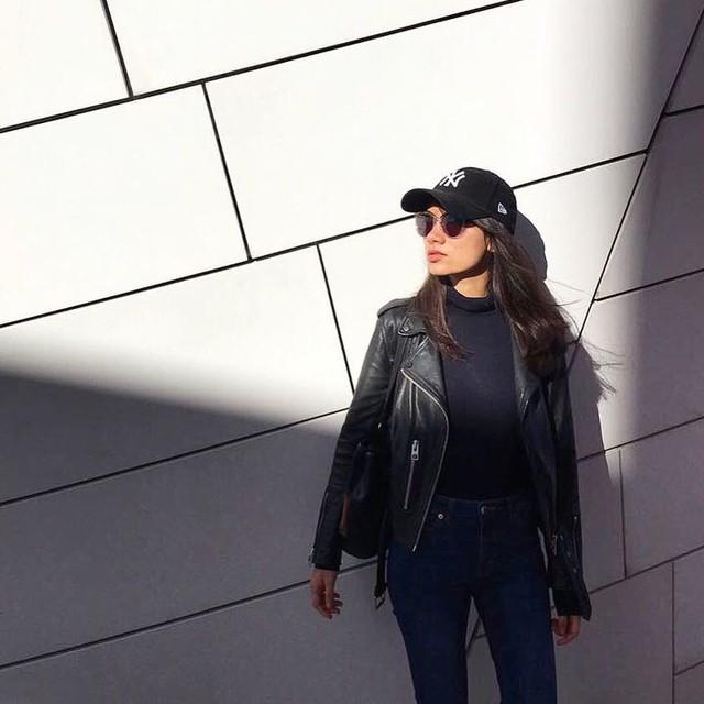 Melissande  - Balfern Leather Biker Jacket