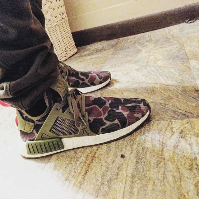 What I'm wearing today. So comfortable. #adidasnmd #adidas #xr1duckcamo
