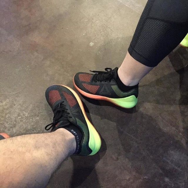 So it's official we became one of those couples today but it was well worth the wait new #nano7 and they are so fresh can't wait to get our first WOD in!! #crossfit #reebok #crossfitfearaverage @itsozzziie