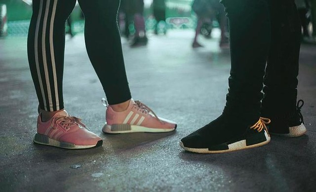 The more the merrier. #adidas #adidasnmd #nmd #r1  #nmdhumanrace #pink #black #yellowlaces #boost #adidasoriginals  #pharrell  #sneakerphotography #positivevibes #hsinthefield #sneakers #bokeh #3stripesstyle #threestripes #night #shoes #winning