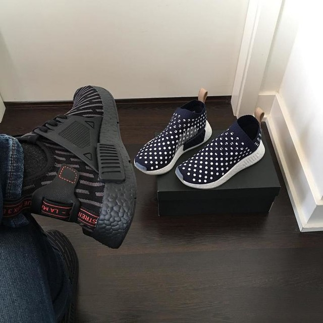 I got 2 pairs, one for the plug and one for the load 🎶 LOL #adidas #nmd #nmdday #april6 #xr1 #cs2 #boostvibes #hypebeast #highsnobiety