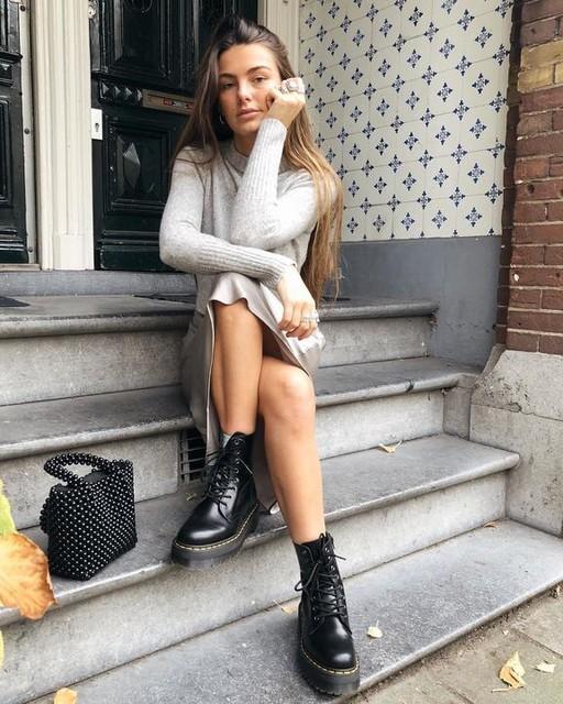 pariselllis - Vestido con Suéter Tierny