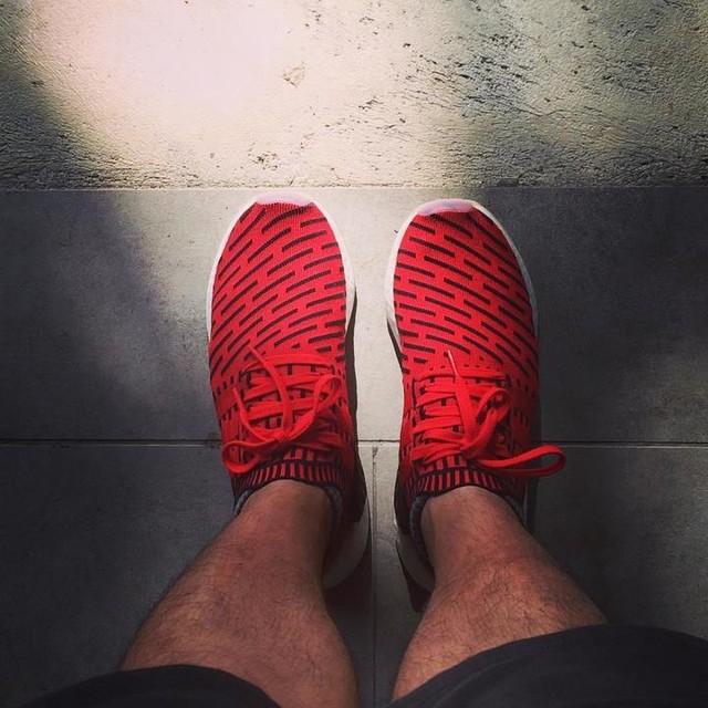 New day, New Kicks. . #adidasoriginals #nmdr2  #primeknit #sneakerfreaker #hypebeast