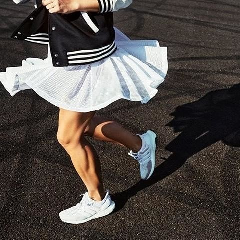 BEING HAPPY NEVER GOES OUT OF STYLE 🏃♀️🏃♀️🏃♀️🏃♀️🏃♀️🏃♀️🏃♀️🏃♀️ #happy#style#sport#instamood#instagir#love#skirt#white#sexy#power#positive#gym#muscle#buildingmuscles#healthy#workout#fitness#adidas#adidaswoman#yesadidas