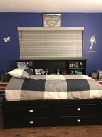 Summit Black Full Roomsaver Bed With 4 Drawer Storage Unit