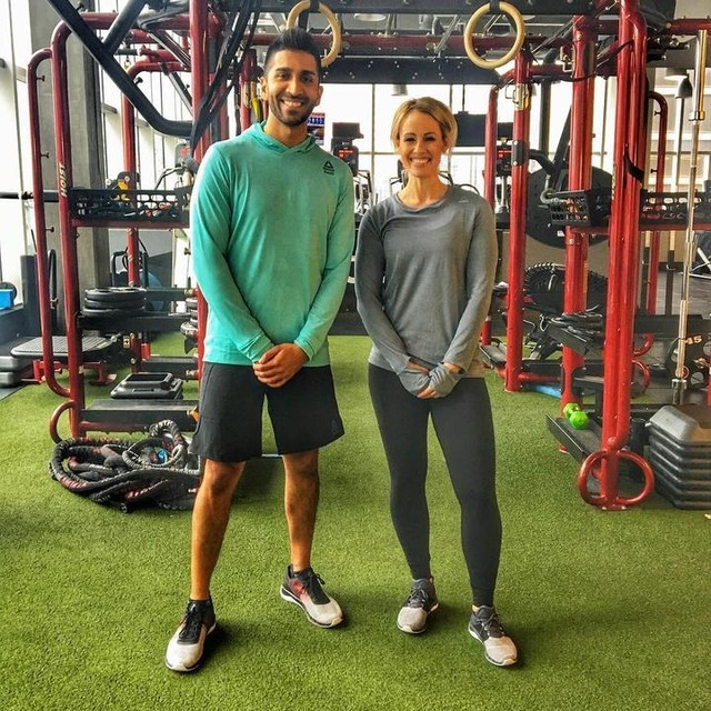NABIL X NATASHA X REEBOK . Fun day shooting with @tvnatasha and @reebokcanada checking out their new Fast Flexweave shoe. This thing is absolute fire 🔥  We put them to the test in our fastest feet challenge. . Who do you think won? 👇🏽 . . . . . #reebok #reebokcanada #flexweave #alwaystraining #fastestfeet