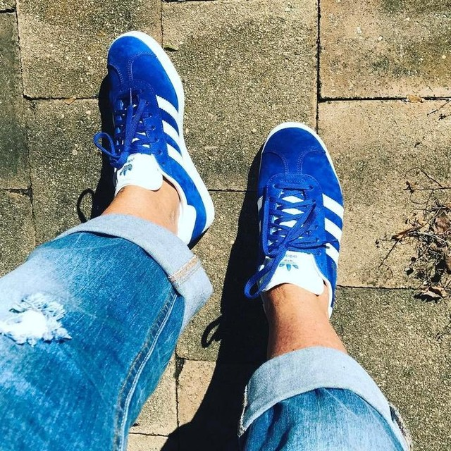 new day, new kicks 💙 #weekend #saturday #adidas #gazelle