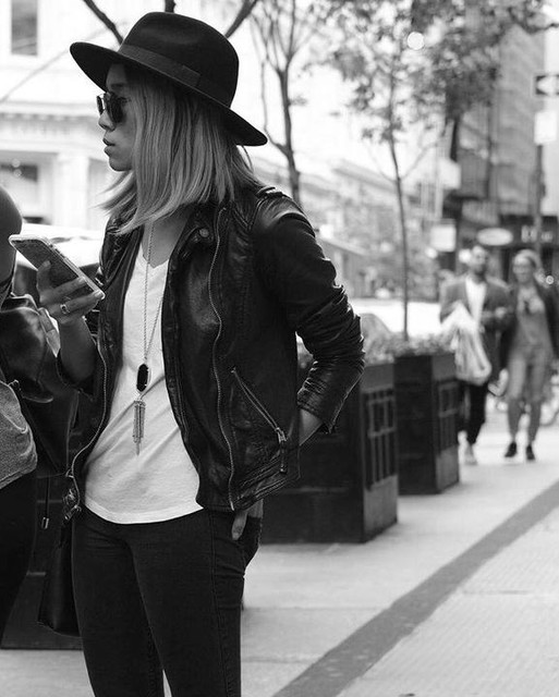Lindsay Viola-Vu ➵ - Balfern Leather Biker Jacket